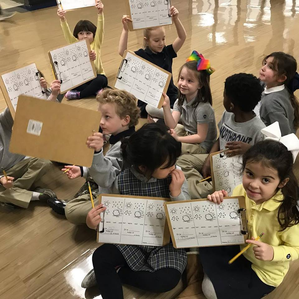 Senior Kindergarten is Studying Weather | Northpoint Christian School